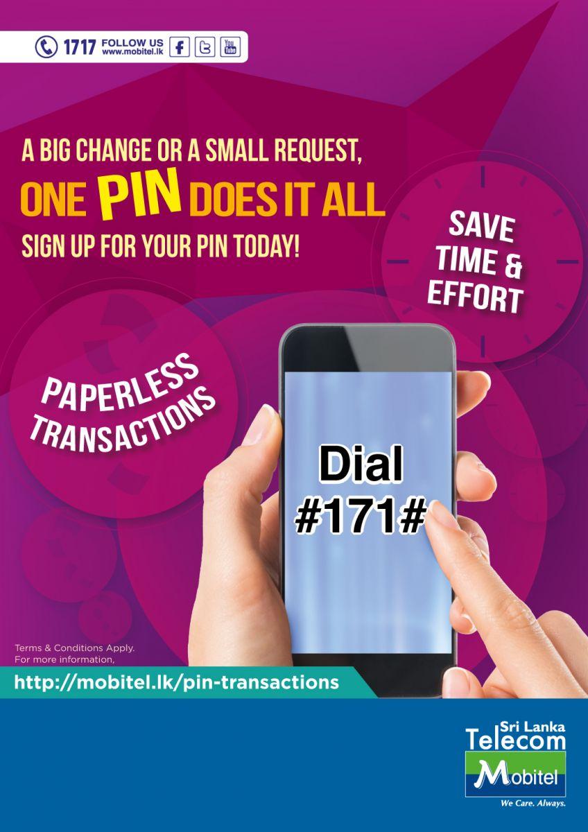 Enabling Mobitel Customer Transactions Through A PIN